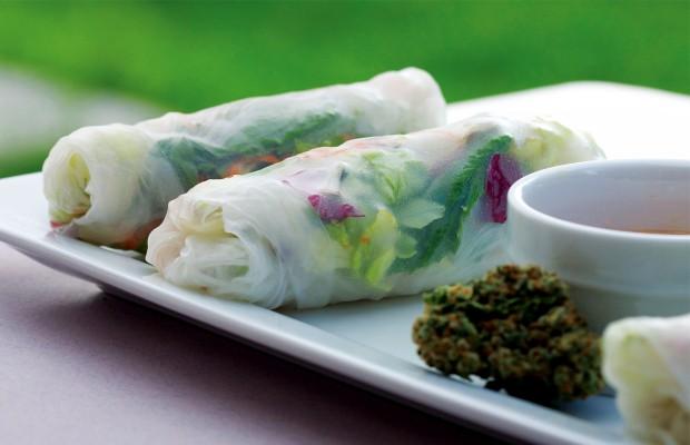 Gluten-Free Vietnamese Lemon Kush Kief Spring Rolls
