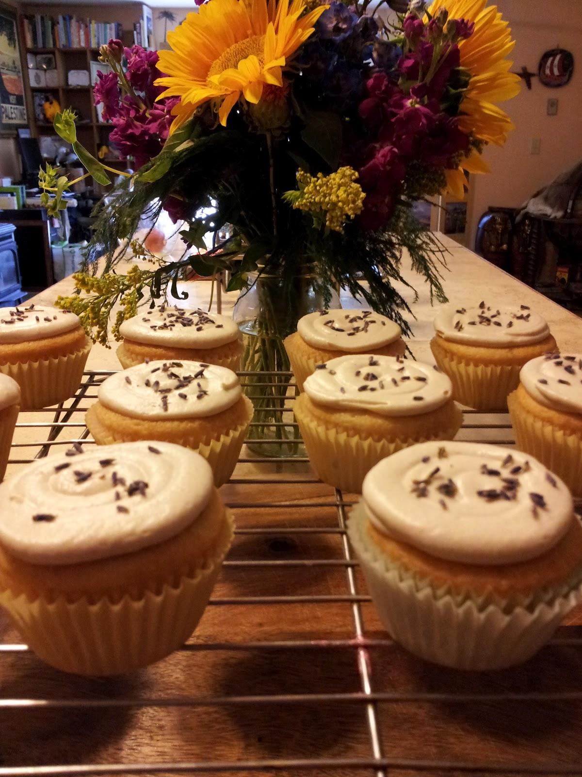 Super Lemon Haze Lavender Cupcakes