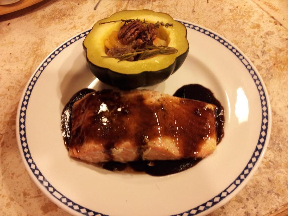 Gluten-Free: Glazed Bourbon Balsamic G13 Sockeye Salmon